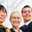 Group of happy confident business - Stock Photo