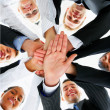 Royalty-Free Stock Photo: Business peoples hands showing unity