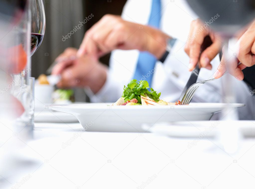 Closeup portrait macro of food being eaten — Stock Photo #3291786
