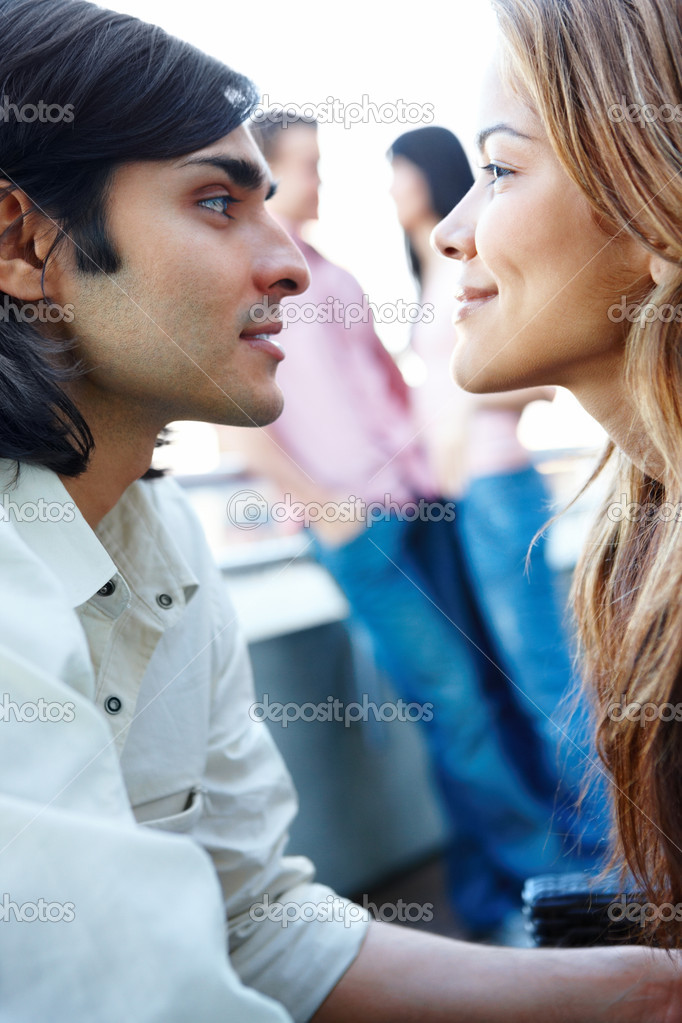 Couples - Romantic couples together on  balcony — Stock Photo #3292834