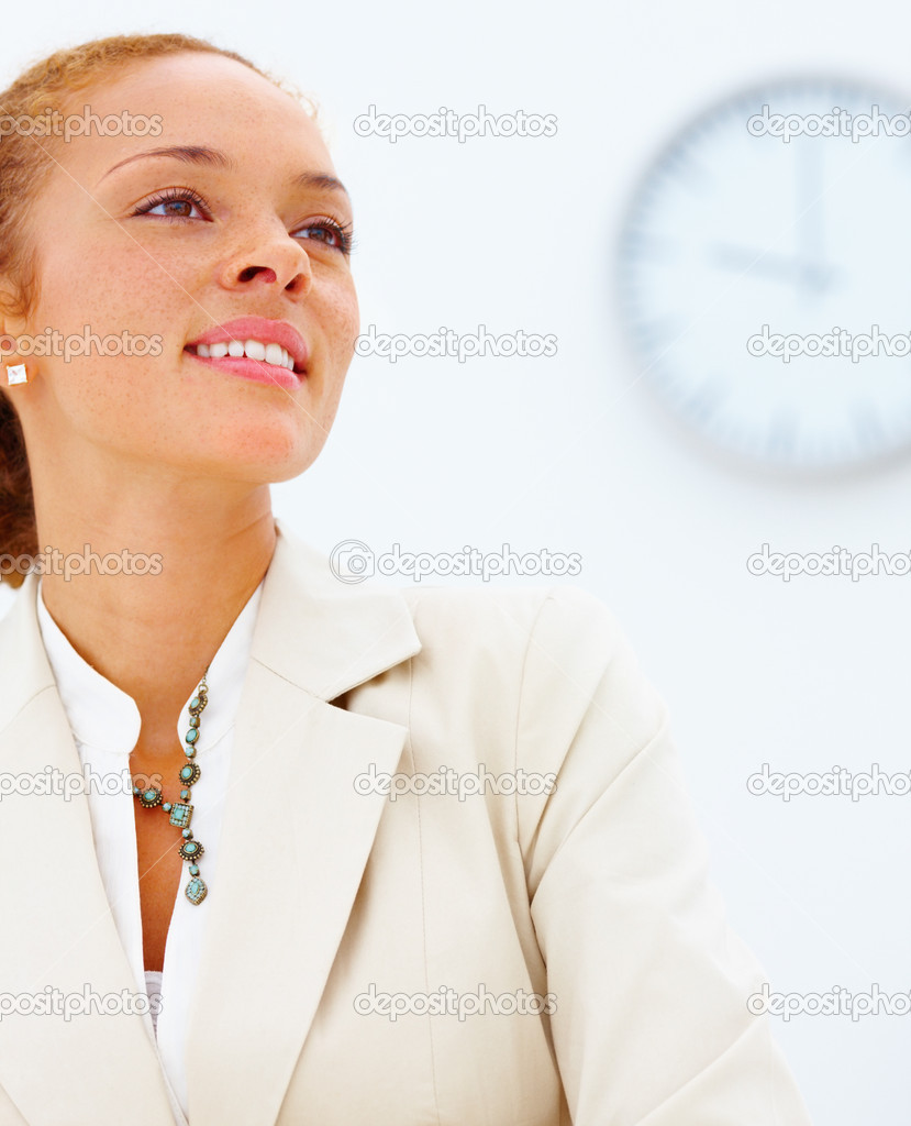 Time - Confident  African American business  woman   — Stock Photo #3293149