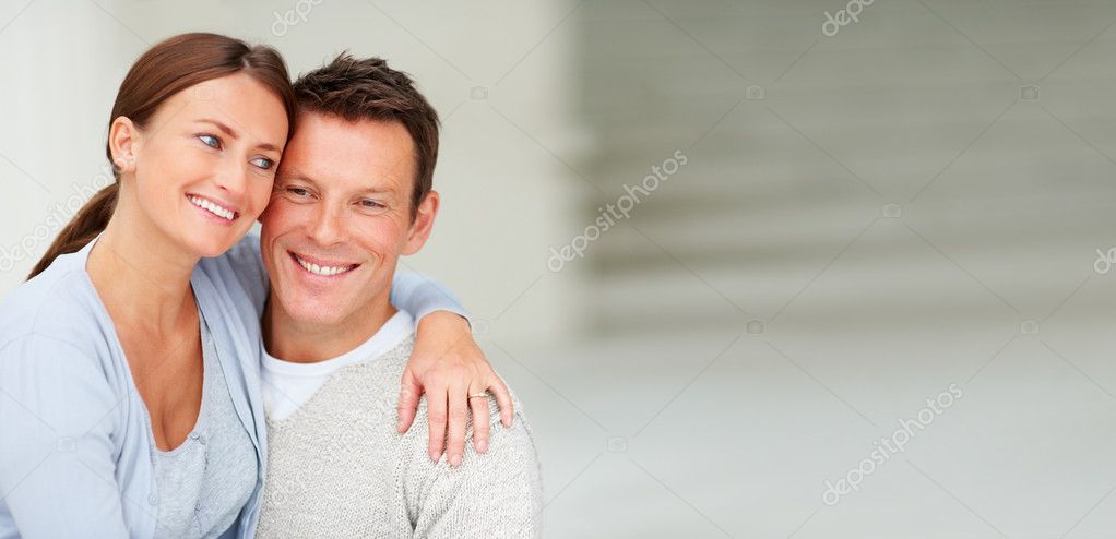 Portrait of cute young couple enjoying together — Stock Photo #3298890