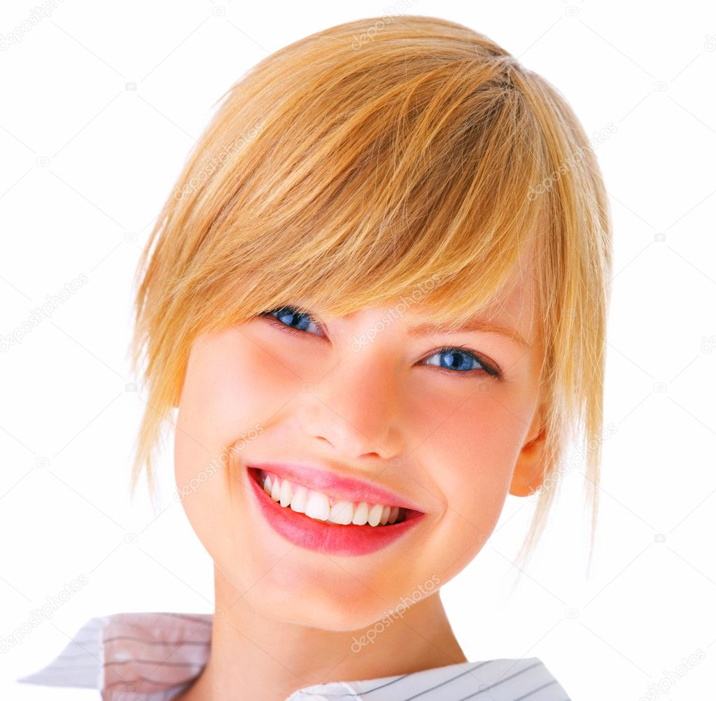 A pretty woman with a cute smiling face — Stock Photo #3299349
