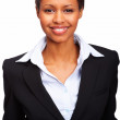 Portrait of a smiling young business woman - Stock Photo
