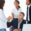 Royalty-Free Stock Photo: Successful happy business team together