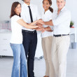 Royalty-Free Stock Photo: Team of business with their hands together