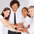 Royalty-Free Stock Photo: Team of confident business with their hands together