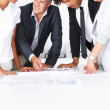 Royalty-Free Stock Photo: Happy team of business colleagues working on a project