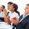 Royalty-Free Stock Photo: Successful business team clapping their hands