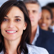 Royalty-Free Stock Photo: Blur image of a lovely happy businesswoman with her colleagues b
