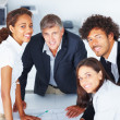 Group of happy business working together on a project - Foto de Stock