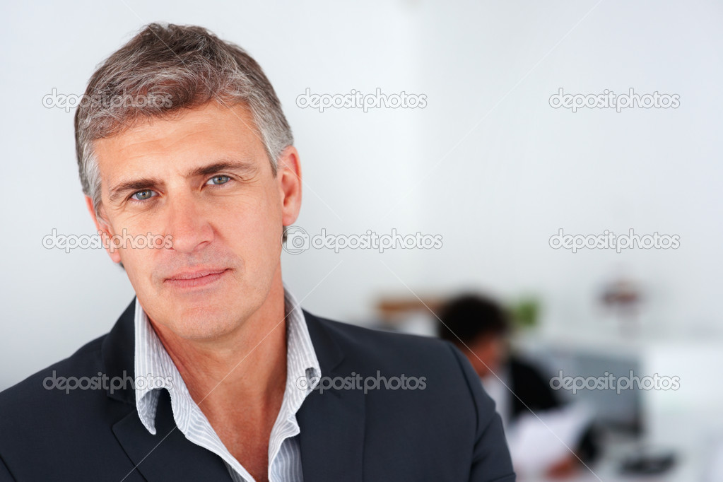 Closeup portrait of a confident handsome mature business man  Stock Photo #3302139