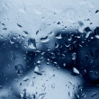 Waterdrops on window - Stock Photo