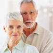 Royalty-Free Stock Photo: A cute old senior couple smiling confidently