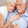 Portrait of a charming couple fast a sleeping - Stock Photo