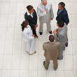 Royalty-Free Stock Photo: Top view: Group of business colleagues standing together