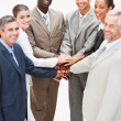 Royalty-Free Stock Photo: Group of business with their hands together
