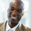 Closeup of an African American business man - Stock Photo
