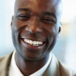 Royalty-Free Stock Photo: Closeup of a cheerful African American business man