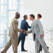 Royalty-Free Stock Photo: Successful business colleagues greeting eachother
