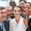 Royalty-Free Stock Photo: A satisfied group of business smiling together