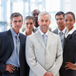 Royalty-Free Stock Photo: A proud business team standing together