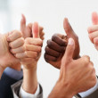 Royalty-Free Stock Photo: Closeup of group business colleagues showing a success sign