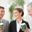 Successful business partners enjoying in their coffee break - Стоковая фотография