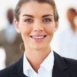 Royalty-Free Stock Photo: Closeup portrait of a cute young business woman