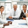 Colleagues at a business meeting - Stock Photo