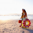 Royalty-Free Stock Photo: Young couple come for a vacation at the beach
