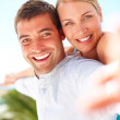 Royalty-Free Stock Photo: Cheerful couple having a good time together
