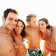 Royalty-Free Stock Photo: Happy group of friends at the beach
