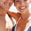 Young charming couple at their vacation - Stock Photo