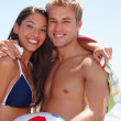 Royalty-Free Stock Photo: Cute young couple on a summer vacation