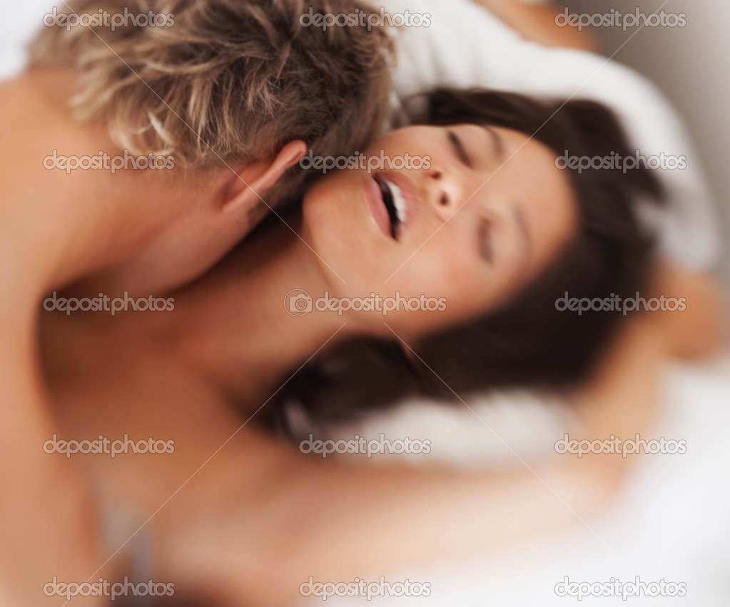 Newlywed couple in love having intercourse  Stock Photo #3326069