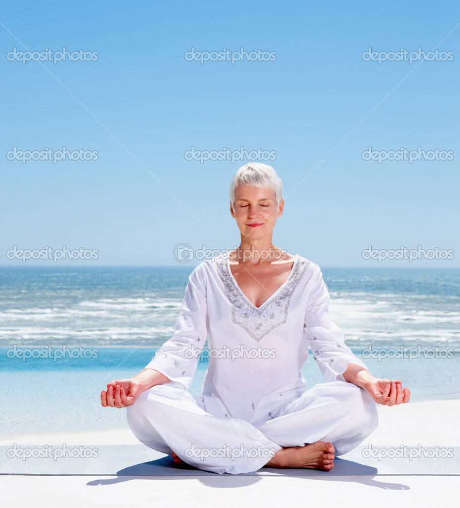 depositphotos 3326317 Relaxed mature old woman meditating on the beach Forget those lame diaper cakes; pregnant ladies need chocolate.