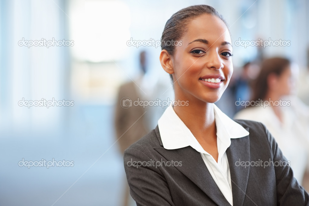 Portrait of a charming African American business woman — Stock Photo #3327485