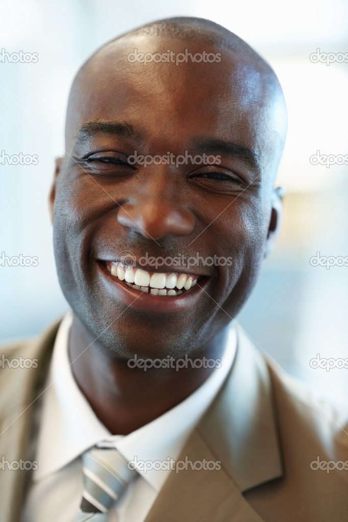 Closeup Image of a happy African American business man — Stock Photo #3327534