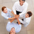 Royalty-Free Stock Photo: Top view of business with a hands together