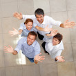 Royalty-Free Stock Photo: Top view of business colleagues showing a gesture