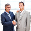 Successful business shaking hands after a deal - Stock Photo