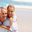Royalty-Free Stock Photo: Couple spending a retirement holiday at the beach