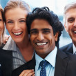 Royalty-Free Stock Photo: Closeup of a successful team of business smiling