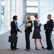 Royalty-Free Stock Photo: Image of business associates standing in discussion at the hallw