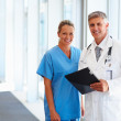 Royalty-Free Stock Photo: Portrait of two successful doctors standing together