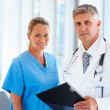Royalty-Free Stock Photo: Portrait of professional doctors standing together