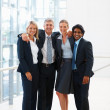 Royalty-Free Stock Photo: Team of business colleagues together at the hallway