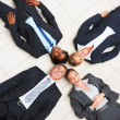 Royalty-Free Stock Photo: Business lying in a circle on the floor
