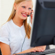 Royalty-Free Stock Photo: Successful young female secretary at work